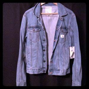 Calvin Klein Light Wash Jean Jacket (Size Medium)